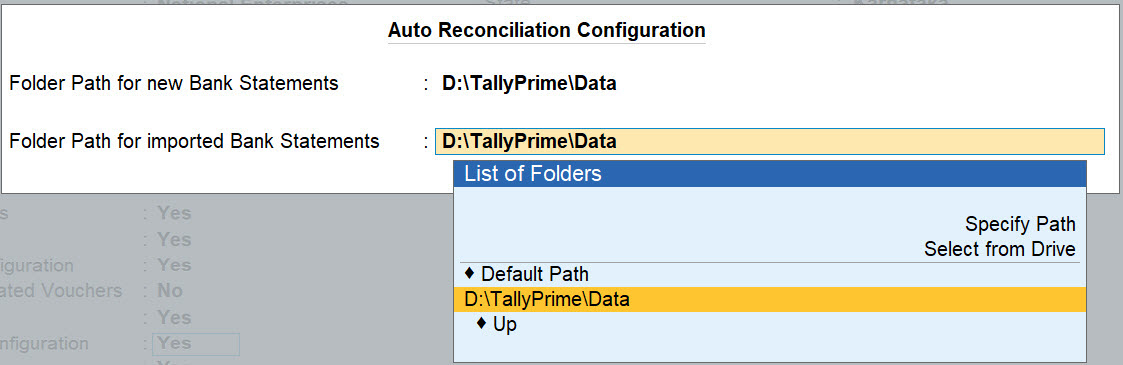 Auto Reconcilliation Configuration for Bank Ledger in TallyPrime