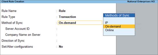Create Client Rule Transaction