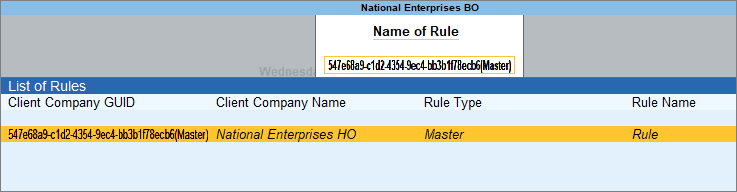 Activate Server Rule Path