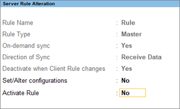 Server Rule Alteration Master