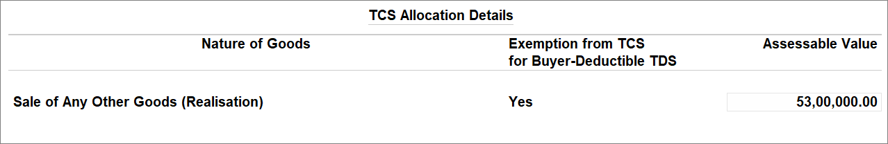 TDS Deductible Party Transaction Under Uncertain Transaction with TCS Nature of Goods (Realisation)