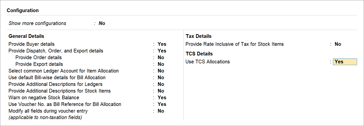 Use TCS Allocations Under F12 for Exempted Buyer